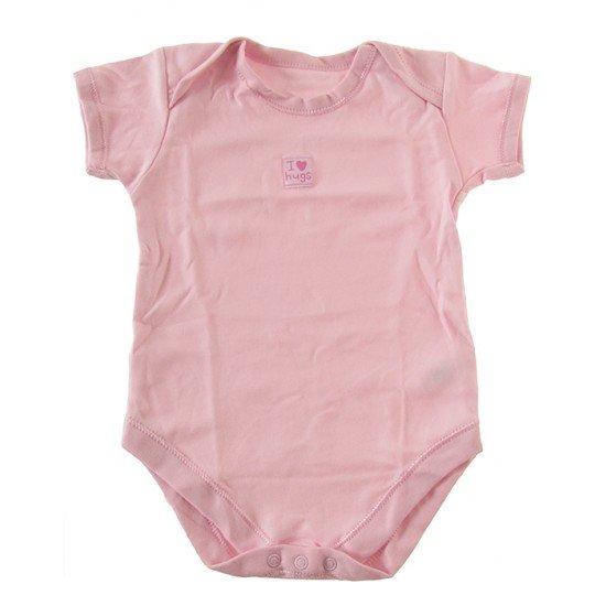 Розово боди с надпис ( размер 12-18м)
