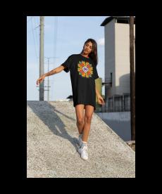 Дамска тениска-рокля с шевица 01