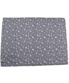 """Бебешка калъфка """"Звезди"""" ранфорс в сиво А28138104А"""