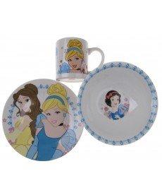 Детски порцеланов сервиз за хранене 3 части- Три принцеси