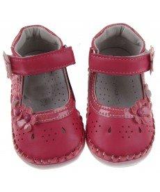 """Отворени обувки """"Криси"""" в наситена праскова"""