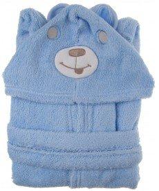 """Детски халат """"Мечко"""" в синьо"""