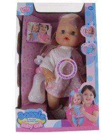 HAPPY TOYS -Пишкаща кукла с аксесоари и 12 бебешки звука