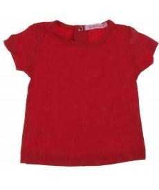 Тениска памук и ликра в червено
