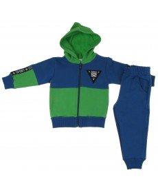 """Бебешки анцуг """"Мони"""" в синьо и зелено"""