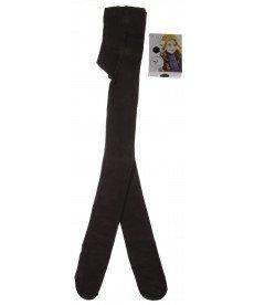 Памучен плътен чорапогащник в кафяво