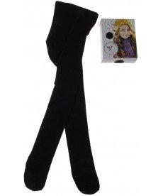 Памучен плътен чорапогащник в черно