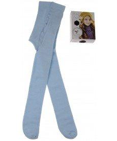 Памучен плътен чорапогащник в светло синьо
