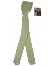 Памучен плътен чорапогащник в светло зелено