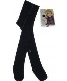 Памучен плътен бебешки чорапогащник в тъмно синьо