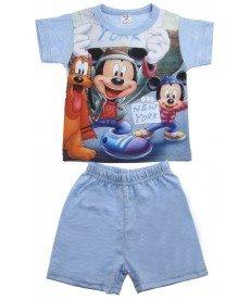 Лятна пижама 'Мики Маус' в светло синьо ( размери от 86см.до 92см.)