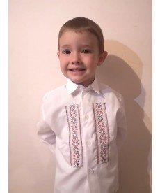 """Риза """"Ангел"""" в бяло с шевица (от 86 см - до 176 см)"""