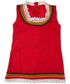 """Сукман """"Зюмбюла"""" в червено (размери от 56 см до 152 см)"""