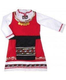 """Носия """"Нуша"""" в бяло и червено (размери от 56 см до 152 см)"""