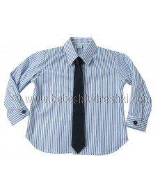 """Вратовръзка """"Стил"""" в тъмно синьо (размери от 0 г. до 16 г.)"""