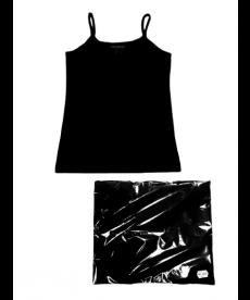 """Комплект 3 бр потник с тънки презрамки """"Люси"""" в черно Т4118457С"""