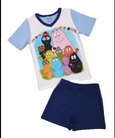 """Лятна пижама """"Барбарони"""" в светло синьо и тъмно синьо P7744100A"""