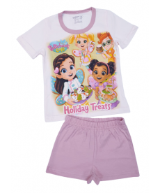 """Лятна пижама """"Масленка"""" в светла пудра P9594139A"""
