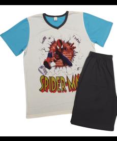 """Лятна пижама """"Спайдърмен"""" в електрик синьо и графит P5544105A"""