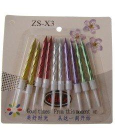 Комплект къдрави свещи в различни цветове (малки)