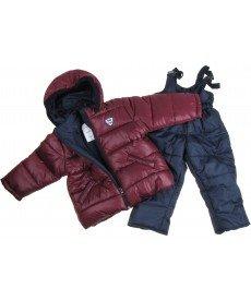 """Грейка """"Зимна забава"""" в бордо (размери от 80 см до 98 см)"""
