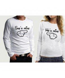 Комплект блузи за влюбени - вариант 25