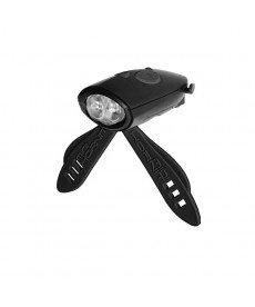 Mini Hornit фар и сирена за велосипед/тротинетка - черен