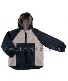 """Пролетно яке """"Никола"""" в тъмно синьо и бежово (размери от 86 см до 128 см)"""