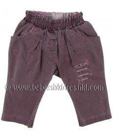"""Дънки """"Мина"""" в опушено лилаво (размери от 68 см до 92 см)"""