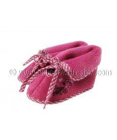 Бебешки пантофки в тъмно розово