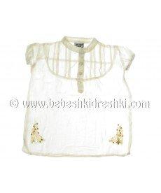 Памучна риза в екрю (размери от 104 см до 128 см)