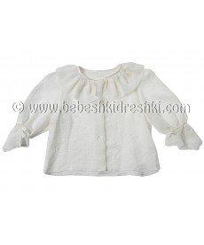"""Блуза """"Фру Фру"""" в екрю (размери от 1г до 10г)"""