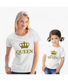 Комплект дамска и детска тениска QUEEN