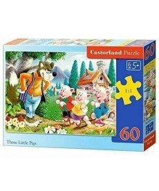 HAPPY TOYS - Three little pigs 60 части